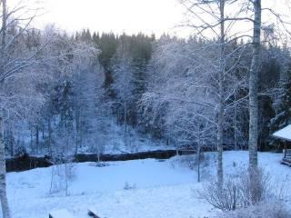 Casa del campo antes de la Navidad