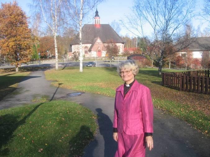 La párroca de Renko, la presidenta de Los Amigos de Santiago de Finlandia - Soili Juntumaa