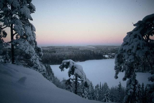 Un paisaje nacional. El Lago de Aulanko en invierno. Foto copyright Hämeenlinnan kaupunki.