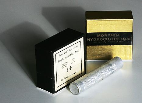 Drogas de la Segunda Guerra Mundial en un museo militar. Foto: Helsingin Sanomat